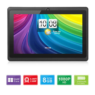 7'' inch Android 8.1 Quad-Core 8GB HD Tablet PC 1.3GHz Dual Camera WiFi Kid Gift