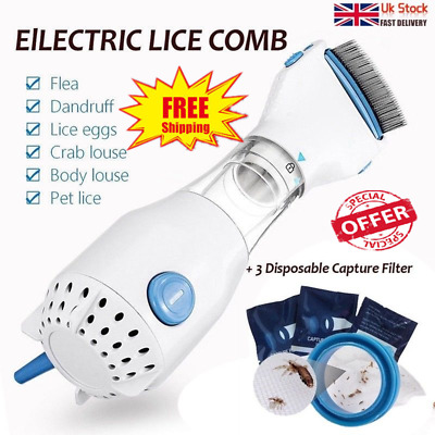 Pet Nit Electric Head Lice Removal Treatment Chemical Eliminate Vacuum Comb Tool