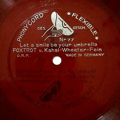 "MIKE MARKEL ""Let A Smile Be Your Umbrella"" FLEXIBLE FOXROT 1927"