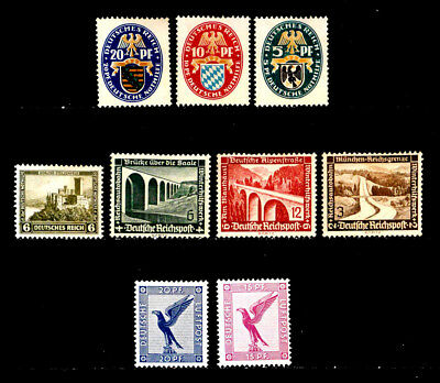 Germany: Classic Era Semi Postal, Airmail Unused Stamp Collection With Set