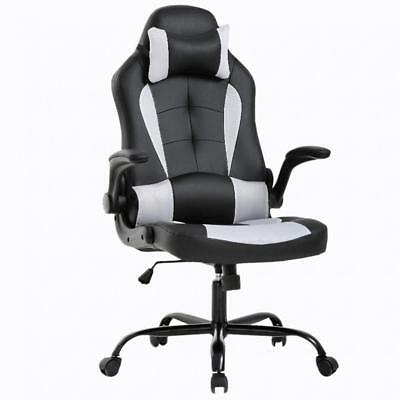 Gaming Office Chair, High-Back PU Leather Racing Chair, Reclining Computer Chair
