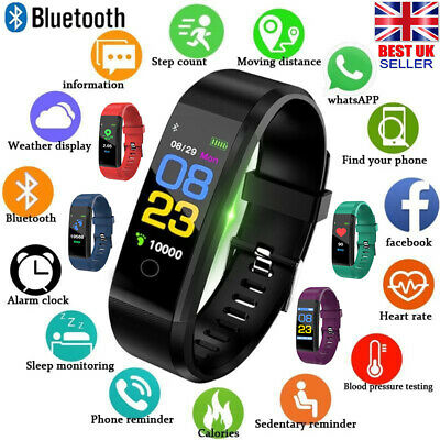 Smart Fitness Watch Activity Tracker WomenMen & Kids For Android iOS Heart Rate