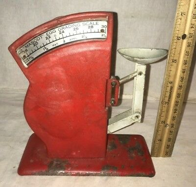 Antique Red Mascot Egg Grading Scale Vintage Chicken Farm Grader Tool Unusual