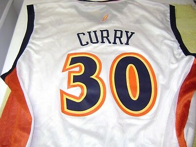 huge discount bf994 32856 STEPHEN CURRY GOLDEN State Warriors ( Blank Front) Jersey Men Xl New Adidas