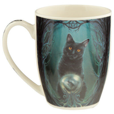 Rise Of The Witches Black Cat Bone China Lisa Parker Mug Gift Boxed