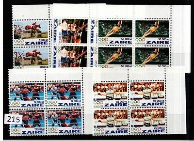 ## 4X Zaire 1996 - Mnh - Olympic - Table Tennis - Boxing