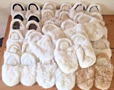 JOB LOT WHOLESALE Handmade Peru ALPACA Wool SLIPPERS MULES Fluffy UK 7-11 Mens