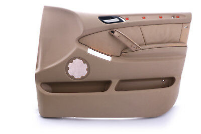 *BMW X5 Series E53 Front Right O/S Door Card Trim Panel Leather Beige
