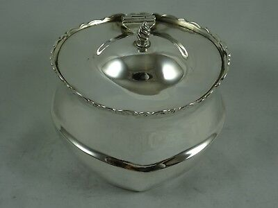 SOLID silver TEA CADDY, 1901, 121gm