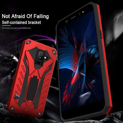 Armour Impact Heavy Duty Shockproof Case Stand Cover For Samsung Galaxy J8 2018