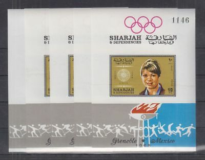 K202. 5x Sharjah - MNH - Sport - Olympic - Famous People - Imperf