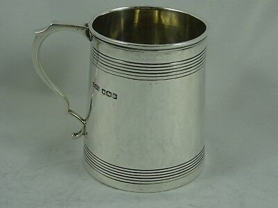 GEORGE III style, solid silver CHRISTENING MUG, 1928, 144gm