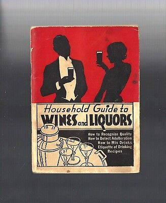 RARE 1934: Art Deco Wines & Liquors, How to Mix Drinks, Drinking Recipe Booklet