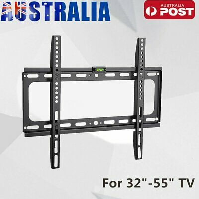 TV Bracket Wall Mount Slimline Tilting LCD LED 32 39 40 43 49 50 55 Inch AU