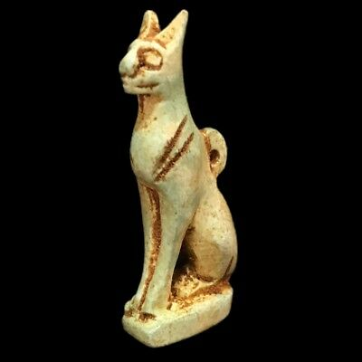 Beautiful Ancient Egyptian Cat Amulet 300 Bc (6)
