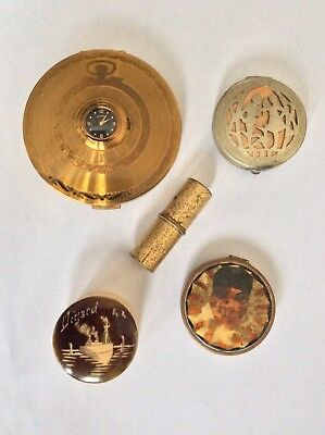 Vintage Powder Compacts Tokalon ,Elgin American Etc job lot