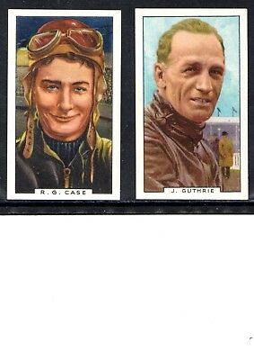 Very Early Motor Cycle Cigarette Cards, 2 Different Cards, R.case, J.guthrie