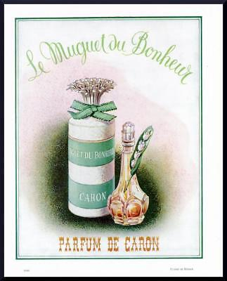 1953 ORIGINAL FRENCH VINTAGE ADVERT / PRINT Caron Perfume Ad LILY VALLEY(2313)