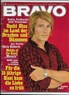 BRAVO Nr.38 vom 13.9.1971 Middle of the Road, Chris Roberts, Uschi Glas, Ron Ely