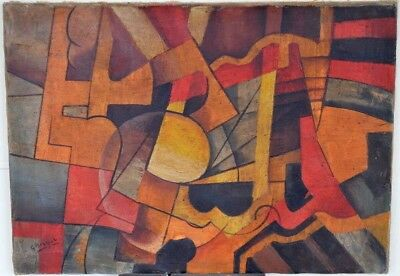 Old master Oil Painting Impressionist Cubism European Abstract note Braque