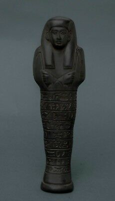 Ancient Egypt EGYPTIAN ANTIQUES Ushabti Shabti Statue Art Pharaoh Stone 500 BC