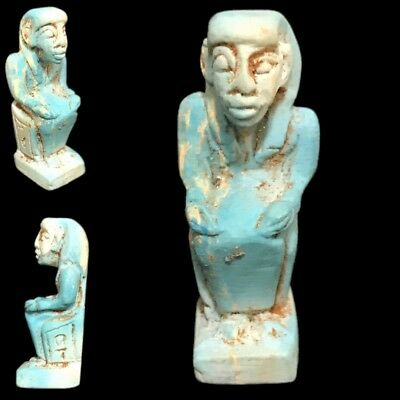 Beautiful Ancient Egyptian Blue Amulet 300 Bc (9)