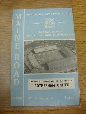 12/01/1966 Manchester City v Rotherham United  . Thanks for viewing this item, w