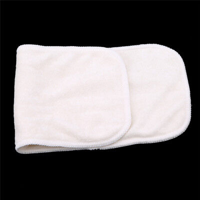 Reusable Bamboo Fiber  Washable Cloth Baby Diaper Nappies Insert 4 Layers LD