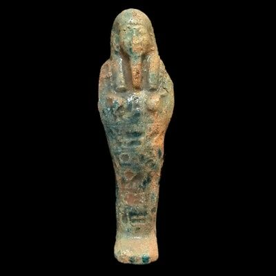 EGYPTIAN HIEROGLYPHIC SHABTI, LATE PERIOD 664 - 332 BC (10) 15 cm TALL !!!!