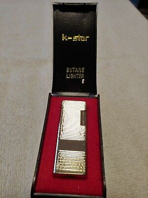 Vintage K-Star Butane Lighter NOS/NIB