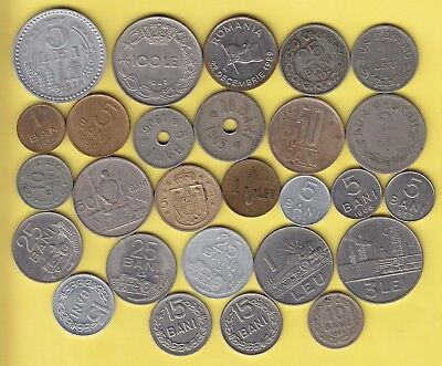 Romania  nice lot of 27 coins, with better types........................35
