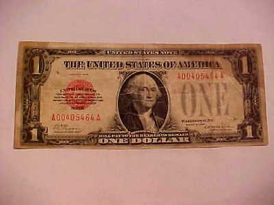 """$1 Series 1928 United States Note Red Seal  """"Scarce"""""""