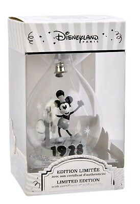 DISNEY Steamboat Willie ORNAMENT MICKEY Mouse 90 LE Christmas Disneyland Paris