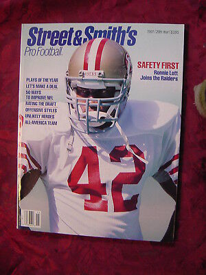 STREET & SMITH's NFL Pro Football Official YEARBOOK 1991 Ronnie Lott