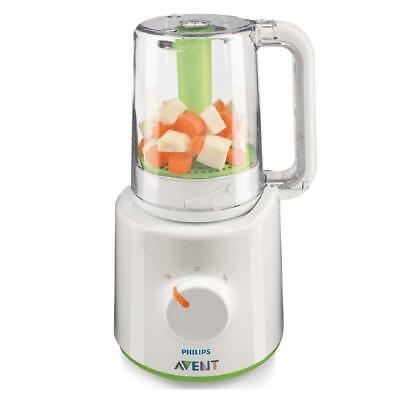 NEW Philips AVENT Combined Baby Food Preparation Steamer And Blender SCF870/21