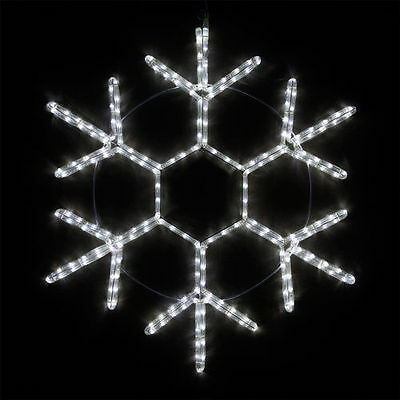 20 Led Snowflake Cool White Rope Light Christmas Outdoor Decoration