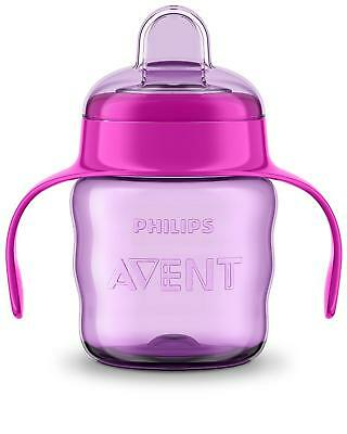 NEW Philips Avent Easy Sip Spout Cup With Handle, 200 Ml, Pink/Purple SCF551/13