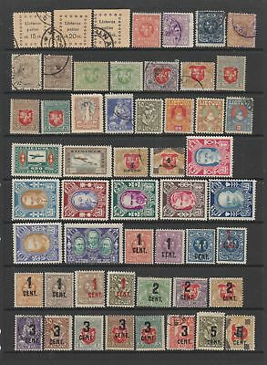 Lithuania early collection, 102 stamps. MH or fine used