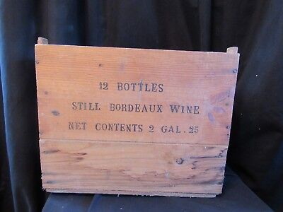 Vintage Wine Box Case Crate 12 Bottle Alfred Custer French Still Bordeaux