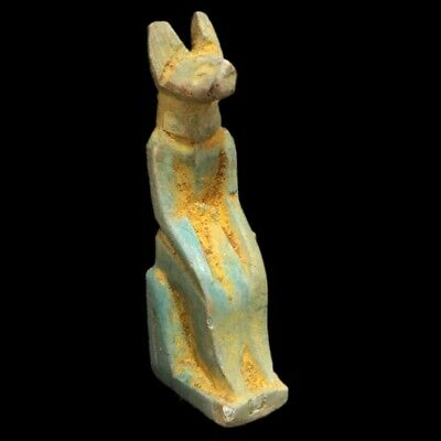 Beautiful Ancient Egyptian Blue Amulet 300 Bc (18)