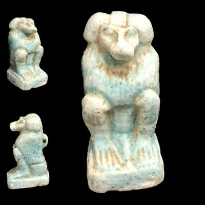 Beautiful Ancient Egyptian Blue Amulet 300 Bc (19)