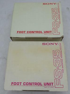 Lot of 2 Sony FS-35 Foot Control Unit for Dictating Machine