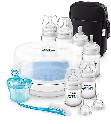 NEW Philips Avent Classic+ Bottle Baby Feeding Essential Gift Set SCD383/01