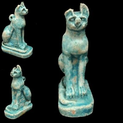 Beautiful Ancient Egyptian Blue Amulet 300 Bc (20)
