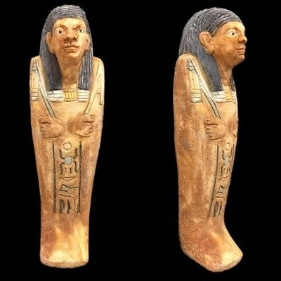 EGYPTIAN HIEROGLYPHIC SHABTI, LATE PERIOD 664 - 332 BC (12) 14 cm TALL !!!!