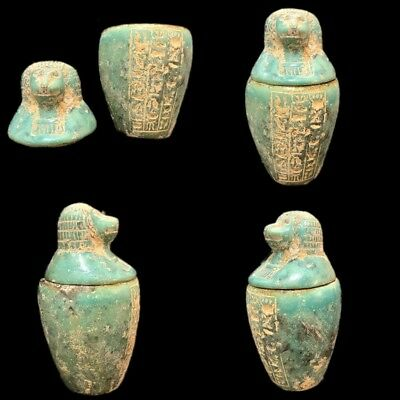 Very Rare Ancient Egyptian Canopic Jar Late Period 664 - 332 Bc