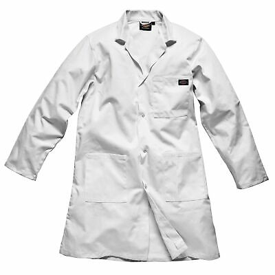 Dickies Motorsport Redhawk Warehouse Coat In White - Workshop / Garage / Pits