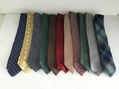 Lot of 11 Vintage Authentic HERMES and Missoni SILK TIES Pre Owned c1970s 1980s