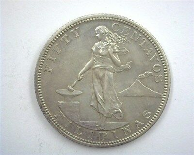 Philippines 1903 Silver 50 Cents  Near Gem Uncirculated  Km#167