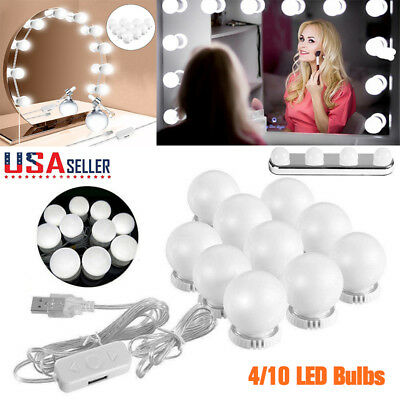 Make up 10LED Mirror Lights Hollywood Kit Bulbs Wall Vanity Light Dimmable Light